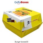 Gotoboxes serve exclusively printed Burger Boxes