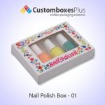 Attractive packaging of Best Nail Polish Packaging in USA