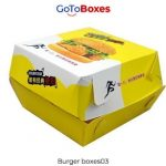 Flat 25% off on Paper Burger Boxes wholesale at GoToBoxes